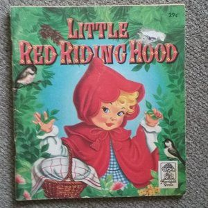 Vintage 1957 Little Red Riding Hood Small paper